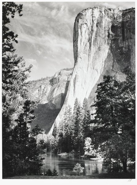 El Capitan, Yosemite National Park, Ansel Adams, Printed by Alan Ross, gelatin silver print