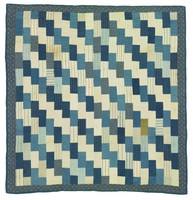 Zigzag quilt, blue and white, Manhattan shirt cuffs
