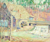 Old Mill at Mountain Brook, Carrie Hill, oil on canvas