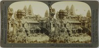 Ruins of Angkor Wat, Best Preserved Examples of Khmer Architecture, Cambodia, French Indo-China, Keystone View Company, gelatin silver prints mounted on card