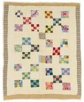 Nine patch crib quilt.