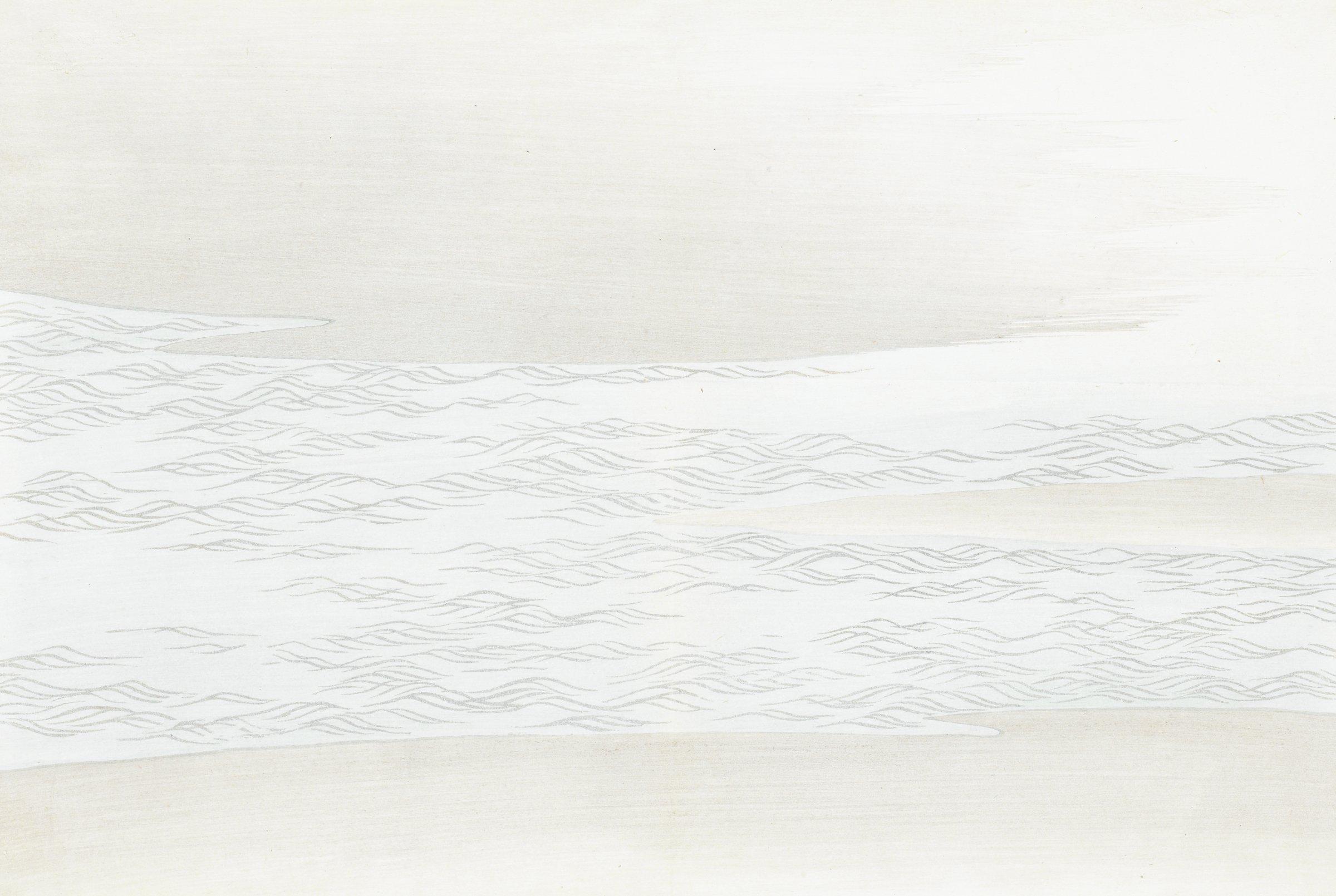 Konami (Small Waves), from Momoyogusa (A World of Things), Volume 2, Kamisaka Sekka, ink and color on paper