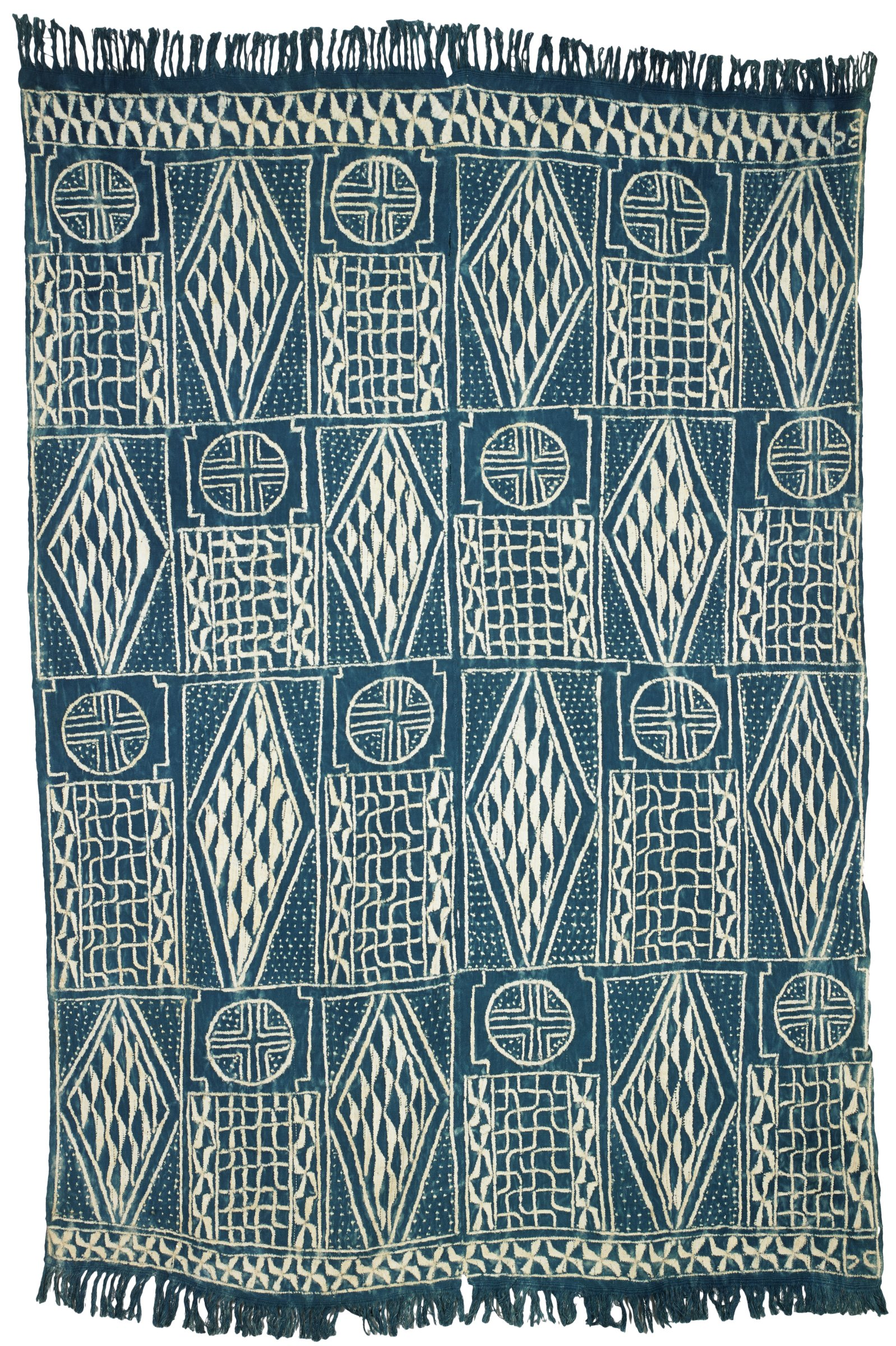 Prestige Cloth, Bamum people, Republic of Cameroon, African, cotton and indigo dye