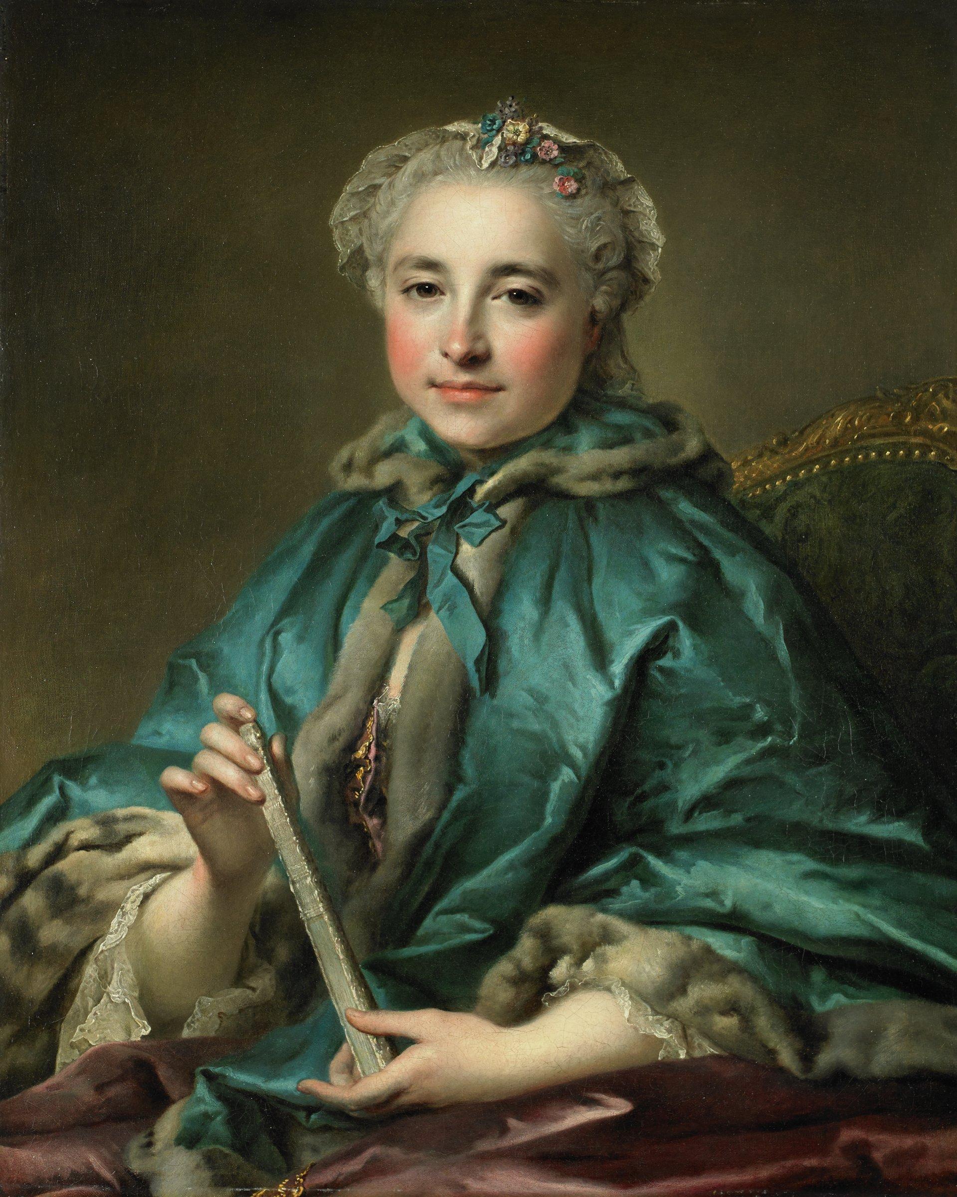 Madame de Livry, Louis Tocqué, oil on canvas