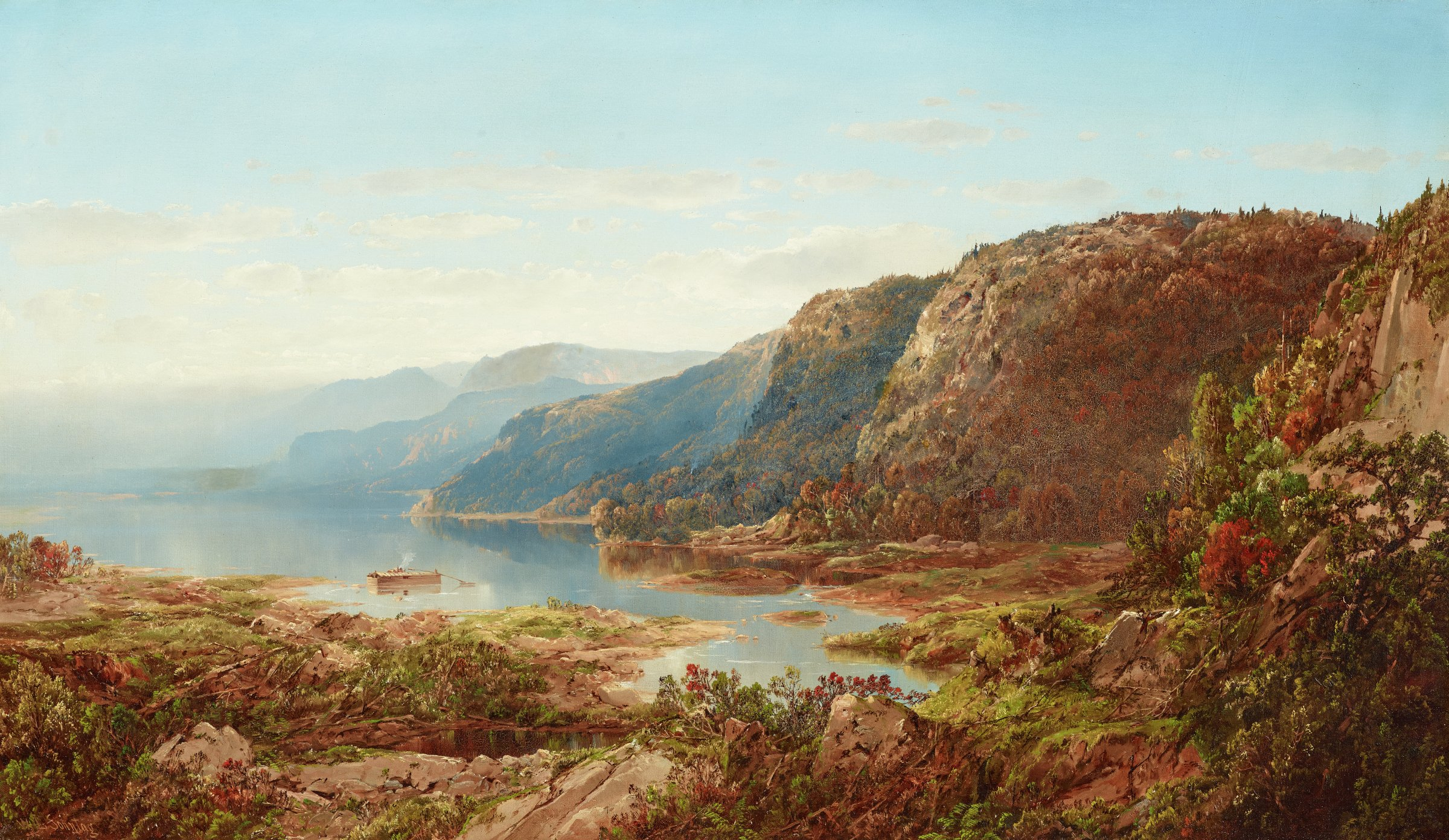 On the Upper Hudson, William Louis Sonntag, Sr., oil on canvas