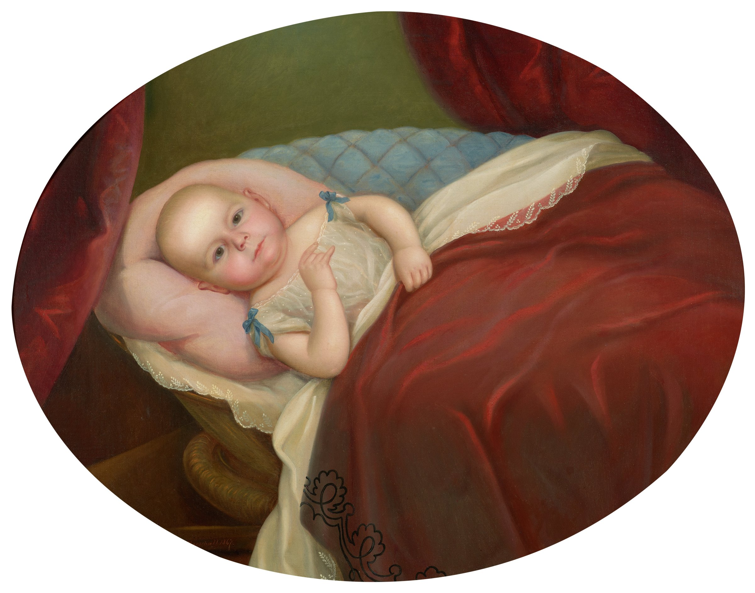 Portrait of Ewell Marschall, The Artist's Son, Nicola Marschall, oil on canvas