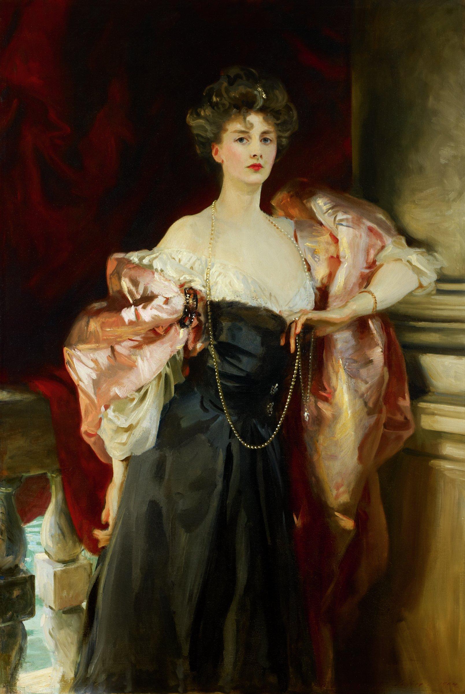 Lady Helen Vincent, Viscountess d'Abernon, John Singer Sargent, oil on canvas