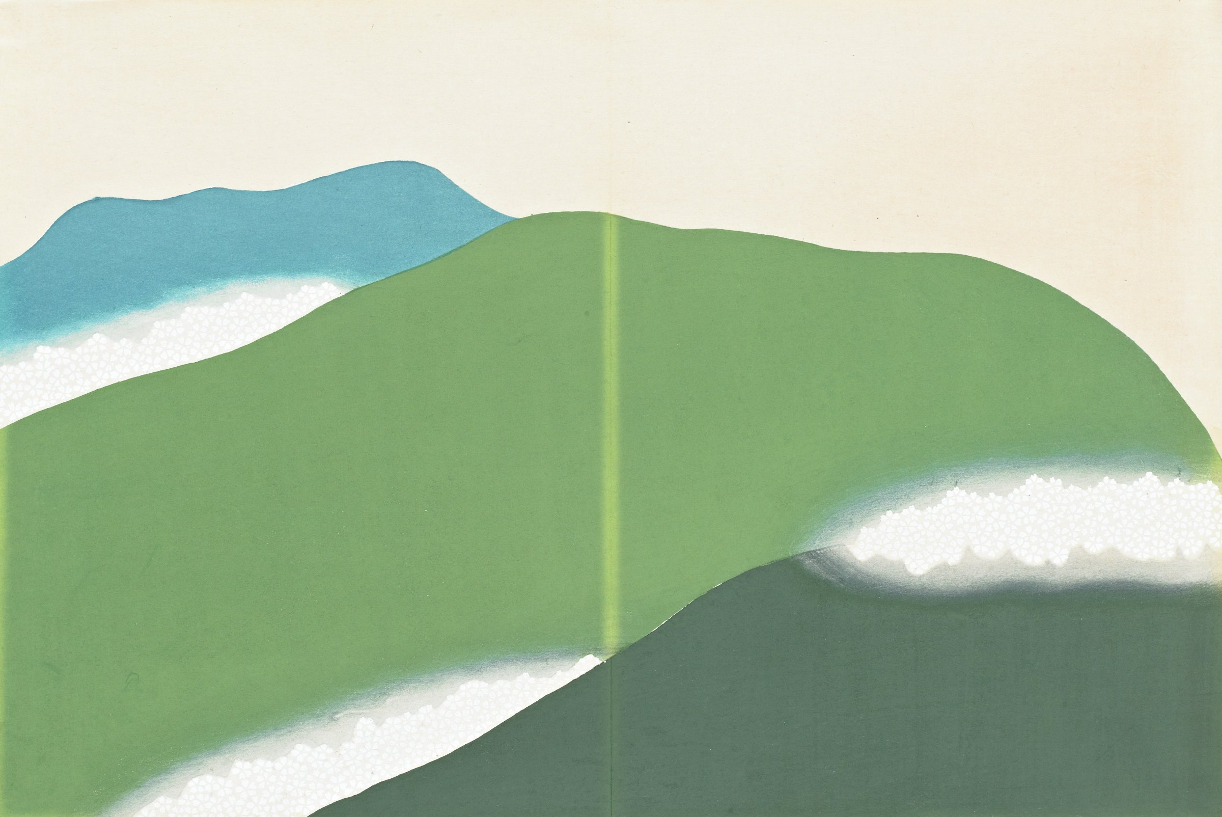 Yoshino, from Momoyogusa (A World of Things), Volume 3, Kamisaka Sekka, ink and color on paper