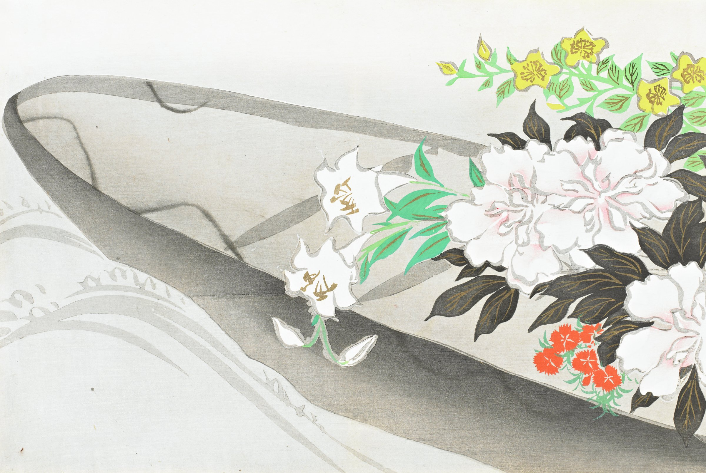 Hanabune (Flower Boat), from Momoyogusa (A World of Things), Volume 3, Kamisaka Sekka, ink and color on paper