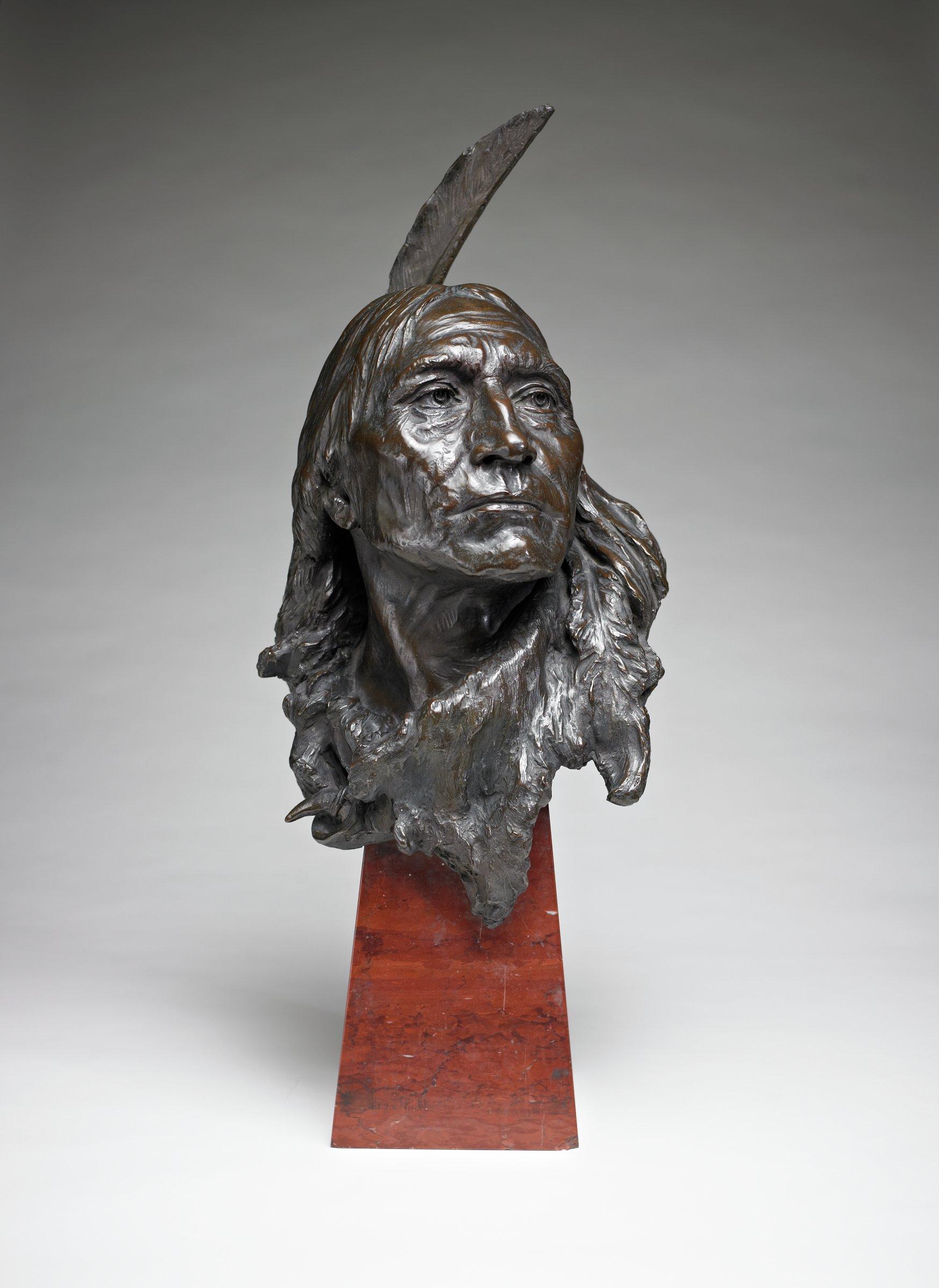 Indian Head, Giuseppe Moretti, bronze