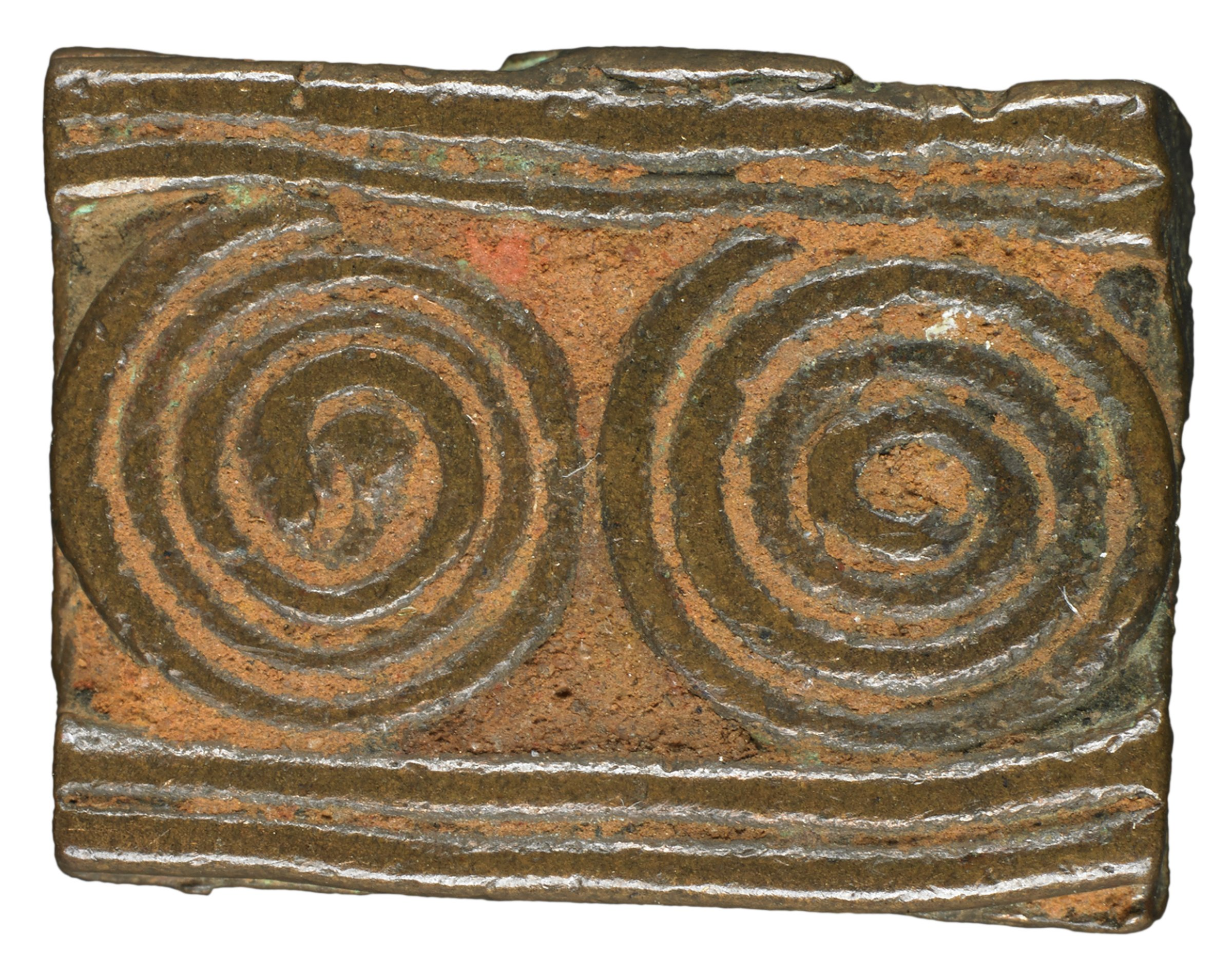 Gold Weight with Geometric Design, Akan group, Ghana or, Côte d'Ivoire, African, brass