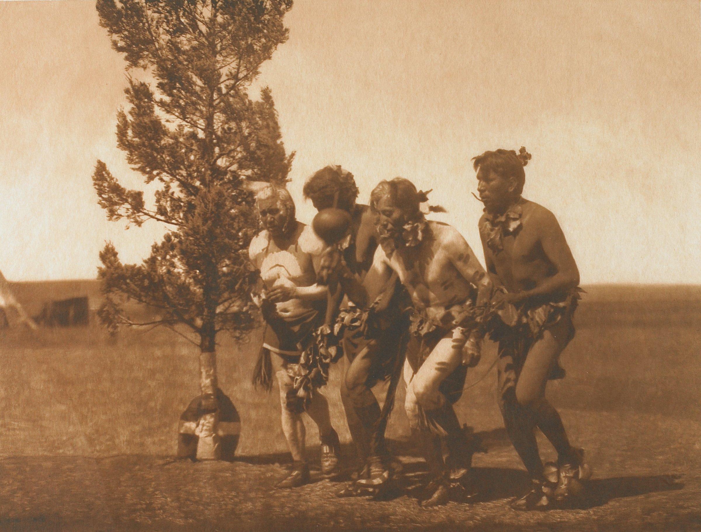 Arikara Medicine Ceremony-Dance of the Black-Tail Deer, Edward Sheriff Curtis, photogravure