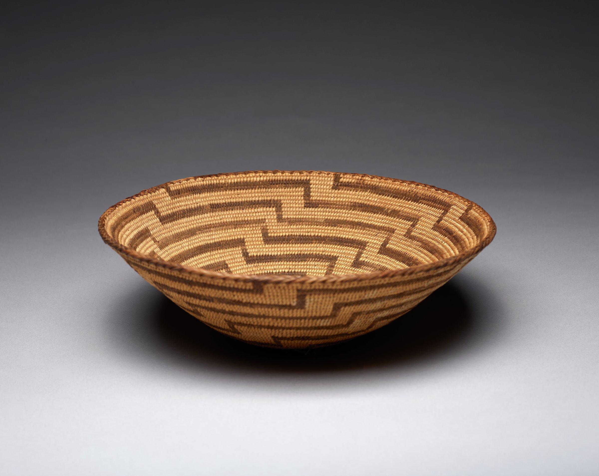 Basket, Apache people, Pima people, Native American, grass fibers and vegetal dye