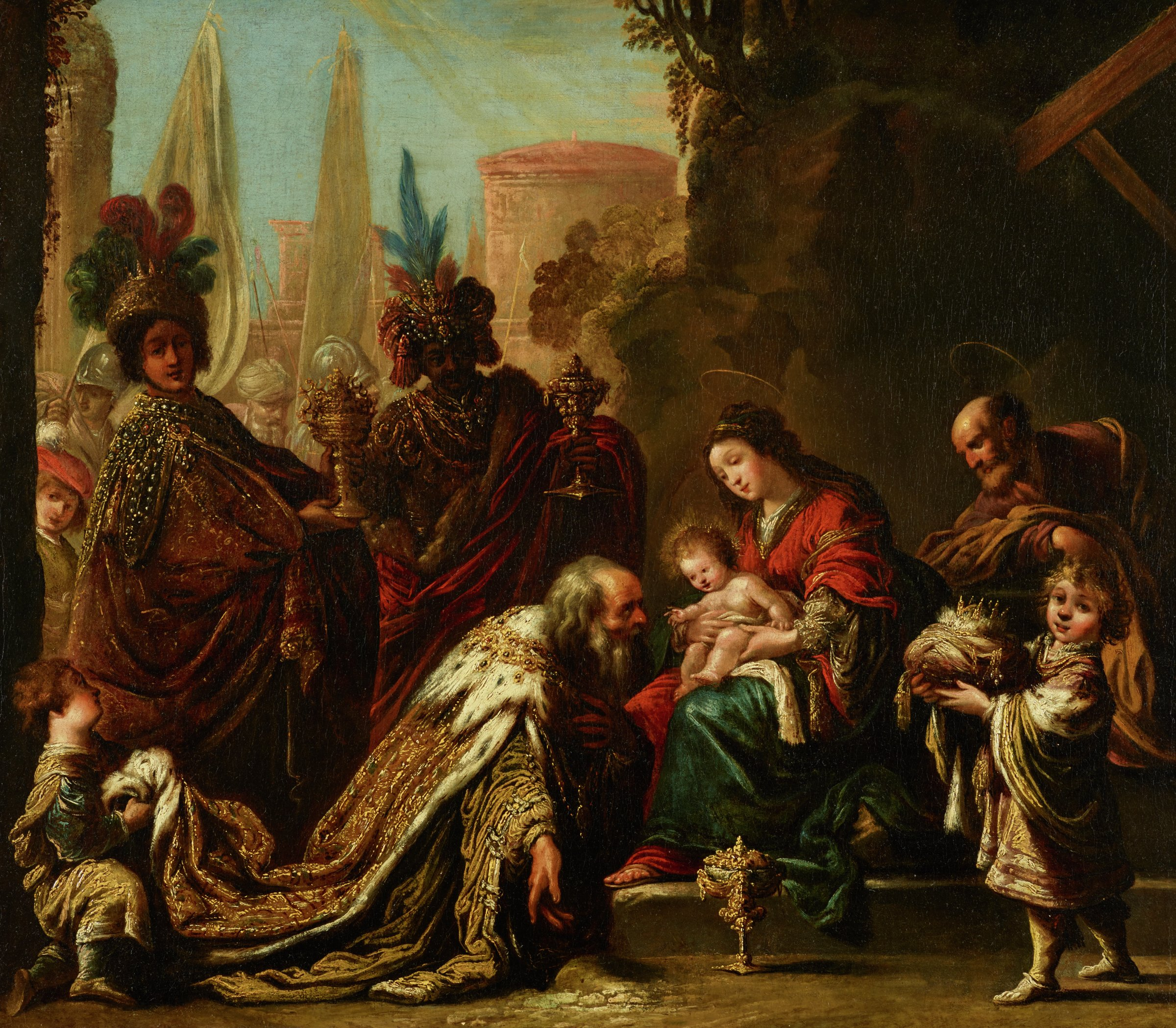 Adoration of the Magi, Claude Vignon, oil on canvas
