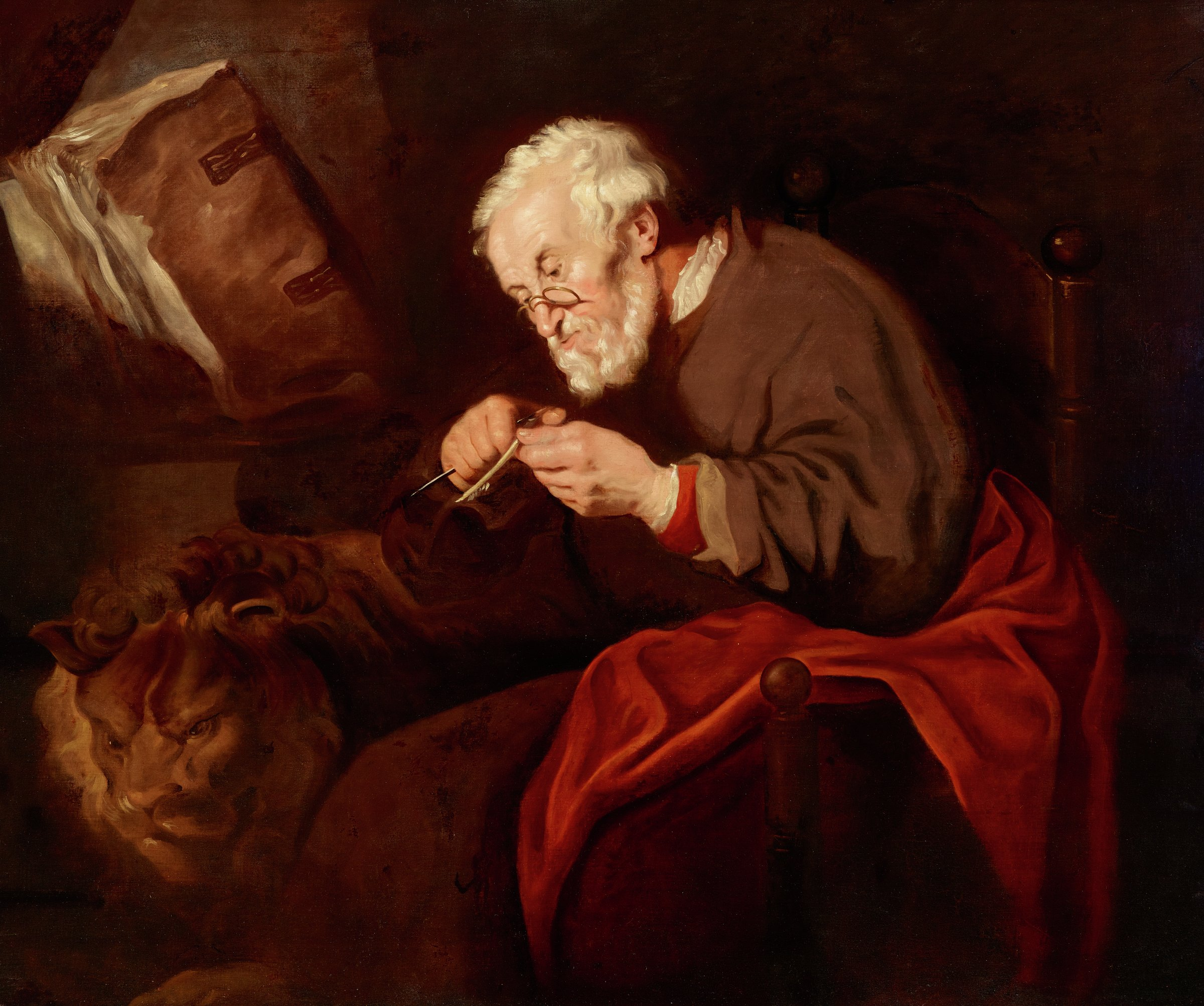 Saint Mark the Evangelist, Attributed to Jan Lievensz, oil on canvas