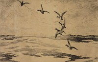 Wide Marshes, Frank Weston Benson, etching