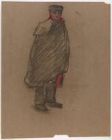 Standing Male Figure, Lucille Douglass, pastel