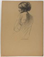 Female Half Figure, Lucille Douglass, charcoal