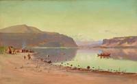 Indian Encampment, James Everett Stuart, oil on canvas