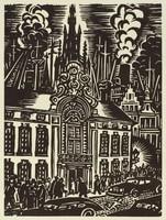 Anvers - Hôtel Osterrieth, Frans Masereel, woodcut