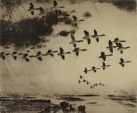 A  Long Journey, Frank Weston Benson, etching