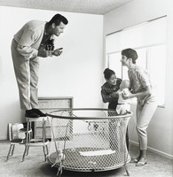 James Garner Shoots for the Family Album, Sid Avery, gelatin silver print