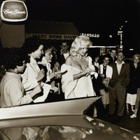 Jayne Mansfield Signing Autographs, Sid Avery, gelatin silver print
