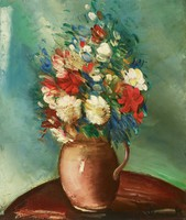 Fleurs (Flowers), Maurice de Vlaminck, oil on canvas