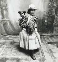 Mother with Child on Her Back, Cuzco, Peru, Irving Penn, toned gelatin silver print
