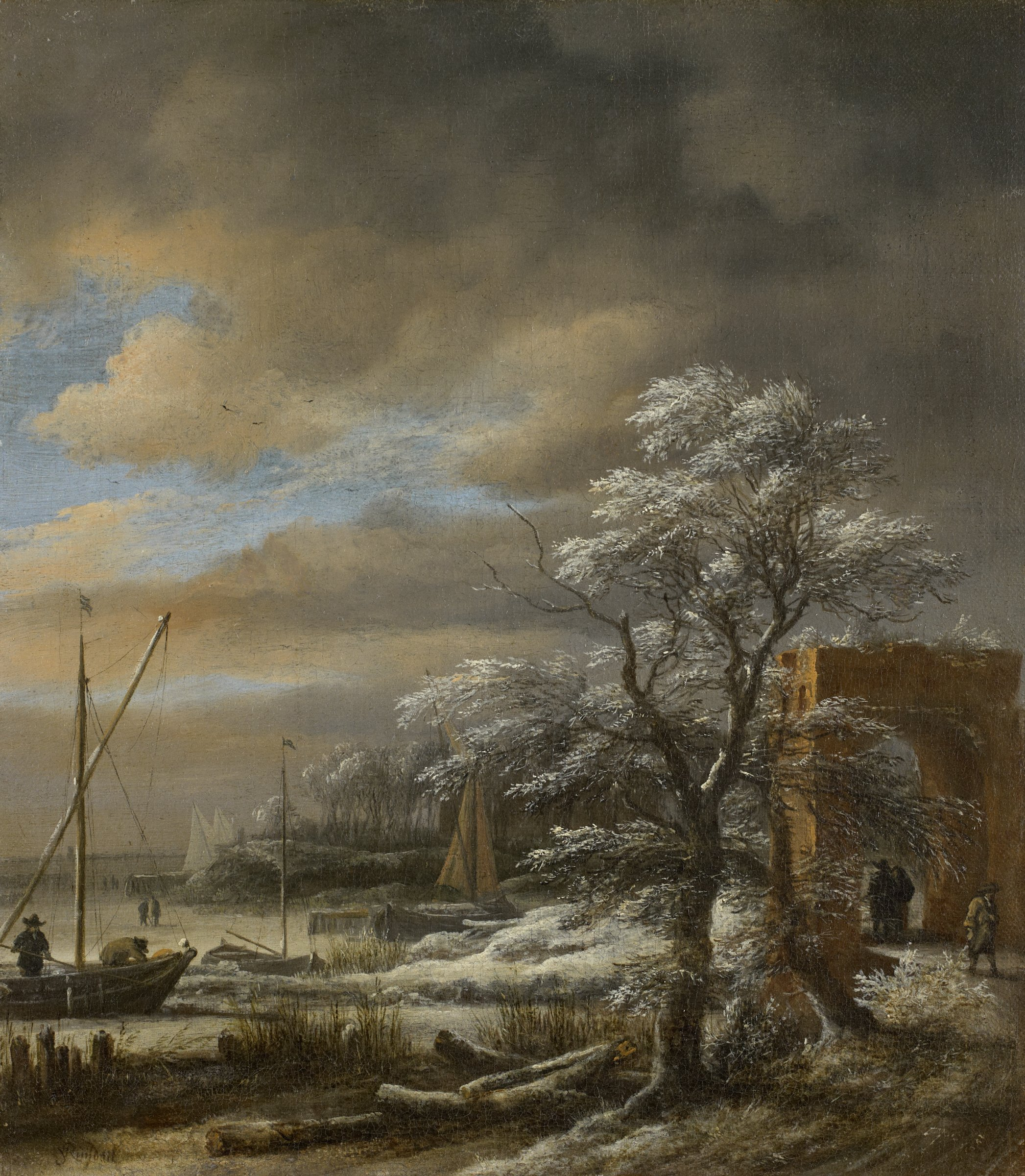 Winter Landscape, Jacob van Ruisdael, oil on canvas