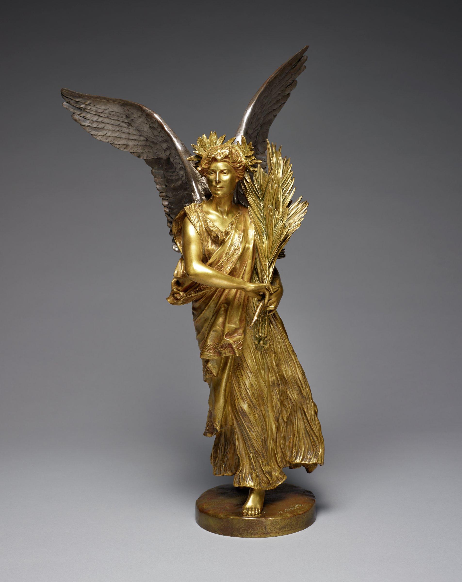 Victoire Marchant, Jean-Léon Gérôme, silvered and gilt bronze