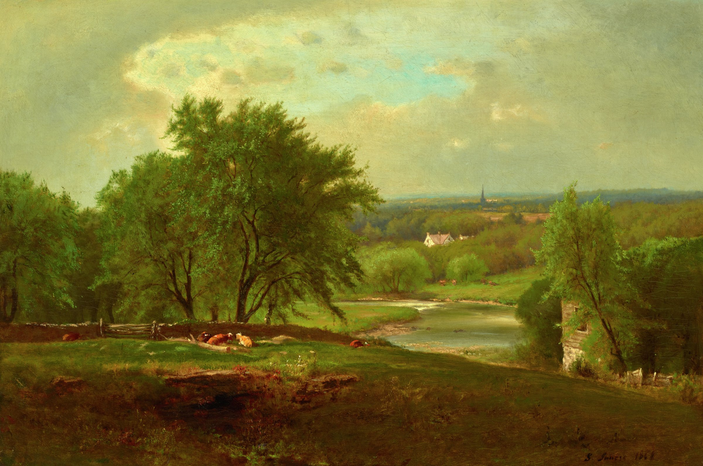 Englewood, New Jersey, George Inness, oil on canvas