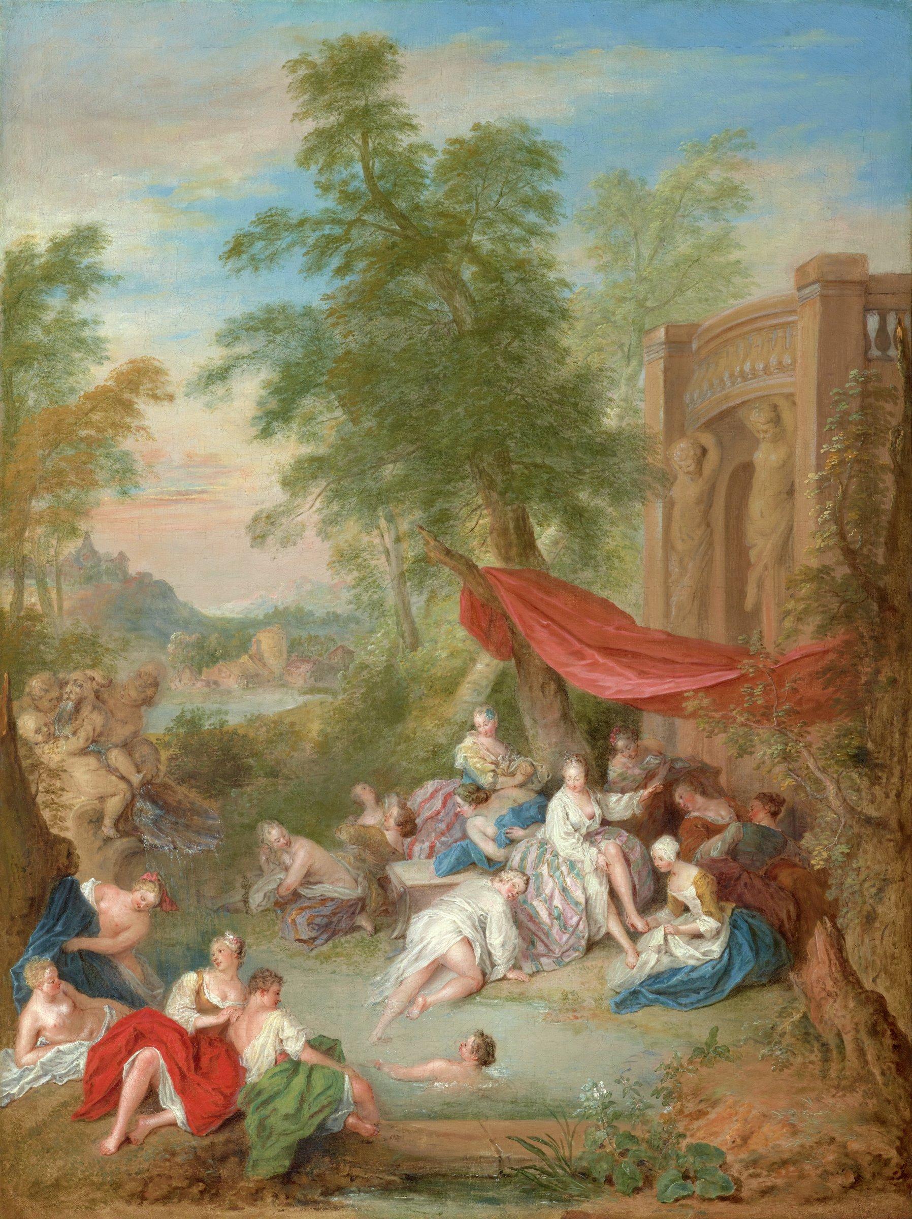 Les Baigneuses (Female Bathers in a Landscape), Jean-Baptiste Pater, oil on canvas