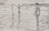 The Beach, Easthampton, Childe Hassam, etching