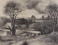 Jackson Heights, L. I., Alexander Zerdin Kruse, lithograph