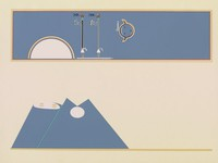 Where the Two Came to Their Father, Maud Oakes, After a drawing by Jeff King, screenprint