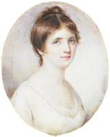Miniature Portrait of Mary Hooper Shaw Fleming, Edward Greene Malbone, watercolor on ivory