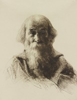 Devout Disciple of St. Francis, Cadwallader Lincoln Washburn, etching
