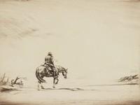 Snowswept (Stormswept), Levon Fairchild West, etching
