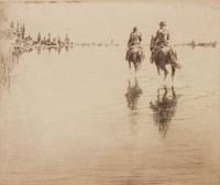 English Bay, Levon Fairchild West, etching