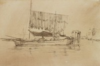 Fishing Boats, Venice, James Abbott McNeill Whistler, etching