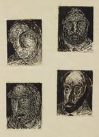 Four Jewish Types, Abraham Walkowitz, drawing