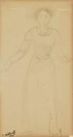 Figure, Abraham Walkowitz, drawing