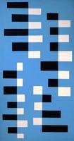 Blue, Black, White, Leon Polk Smith, oil on canvas