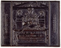 View of the tombstone of the Roman officer Centurio Marcus Caelius.