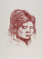 Nepalese Girl, George Biddle, lithograph