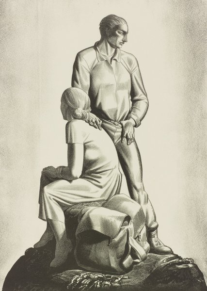 And Now Where?, Rockwell Kent, lithograph
