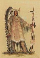 Mah-To-Toh-Pa, George Catlin, lithograph