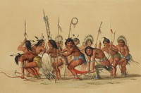 The War Dance, George Catlin, lithograph