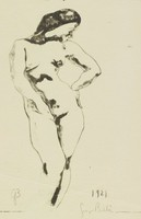 Nude, Hand on Hip, George Biddle, lithograph